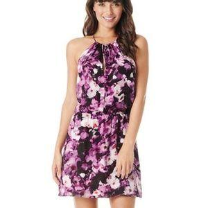 Parker Fleur Floral Silk Dress in Rosewood